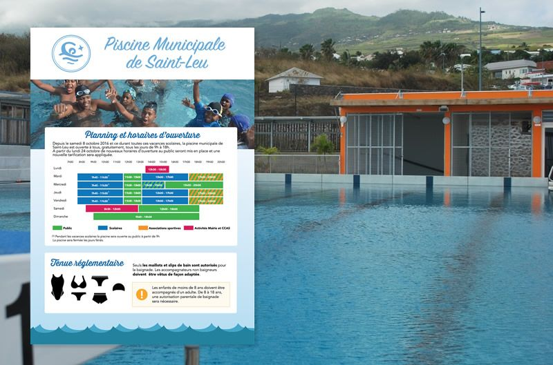 Sports saint leu for Claude robillard piscine horaire